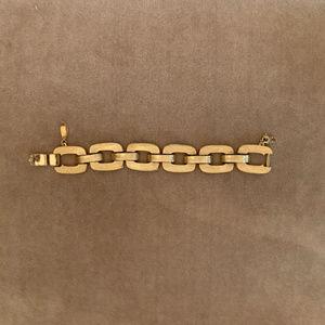 Vintage Monet Brushed Gold Link Bracelet